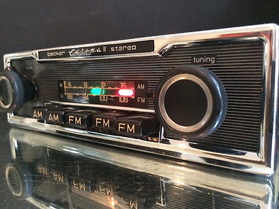 becker europa ii stereo us vintage car fm radio mp3 mint. Black Bedroom Furniture Sets. Home Design Ideas
